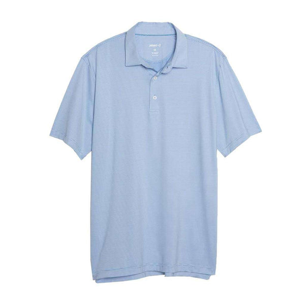 Johnnie-O Lyndon Striped Prep-Formance Jersey Polo in Capri