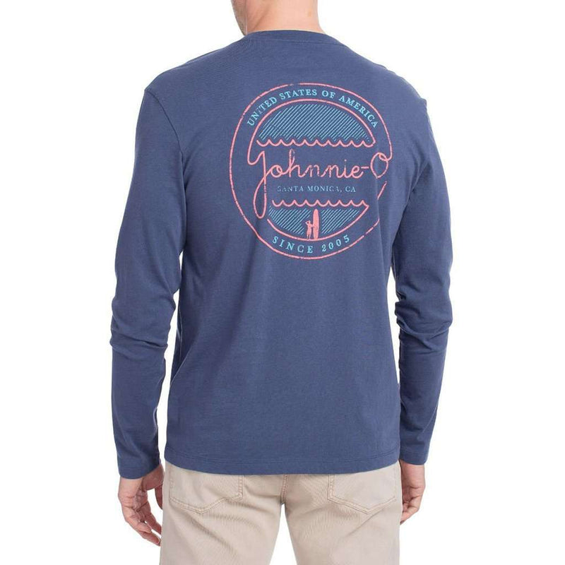 Neon Long Sleeve T-Shirt in Pacific by Johnnie-O - FINAL SALE