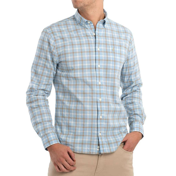 Johnnie-O Oscar Hangin' Out Button Down Shirt gulf blue
