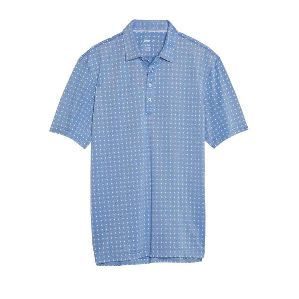 Johnnie-O Otis Printed Prep-Formance Pique Polo in Marlin