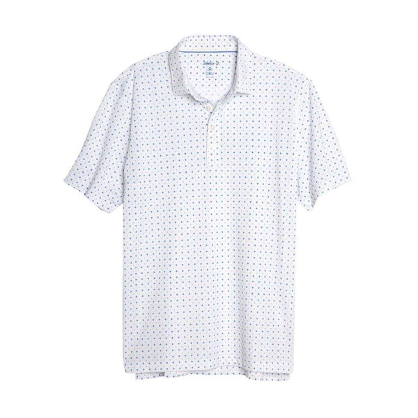 Johnnie-O Otis Printed Prep-Formance Pique Polo in White
