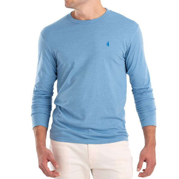 Johnnie-O Palms Sunset Long Sleeve T-Shirt gulf blue