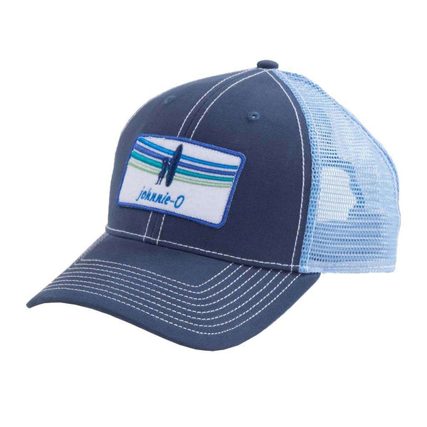 Johnnie-O Pipeline Trucker Hat in Pacific