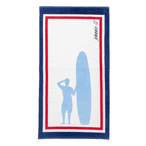 Johnnie-O Sandpiper Towel in Gulf Blue