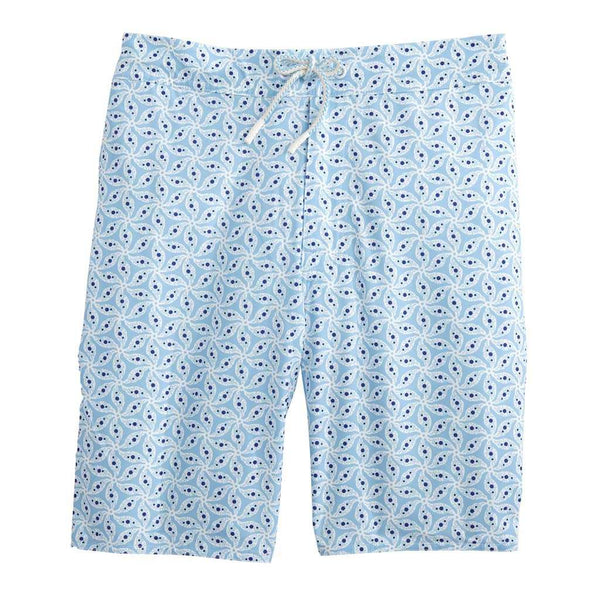 Johnnie-O Sanibel Half Elastic Surf Shorts in Gulf Blue