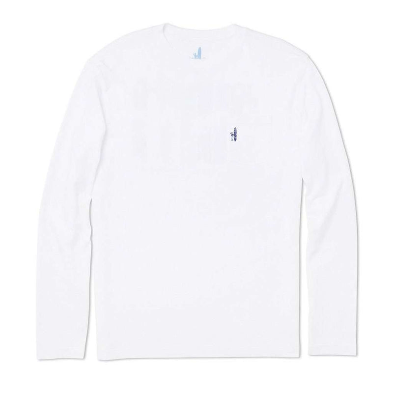 Sumatra Long Sleeve T-Shirt in White by Johnnie-O - FINAL SALE
