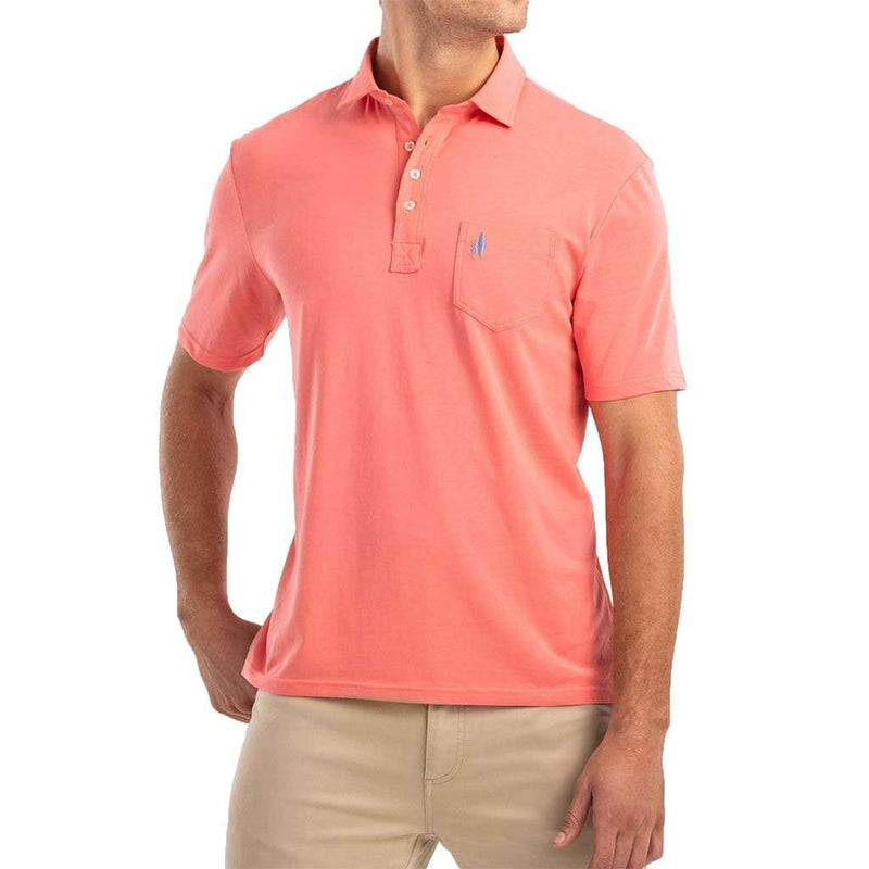 Johnnie-O The Original 4-Button Polo in Coral Reefer