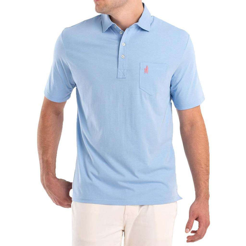 Johnnie-O The Original 4-Button Polo in Gulf Blue