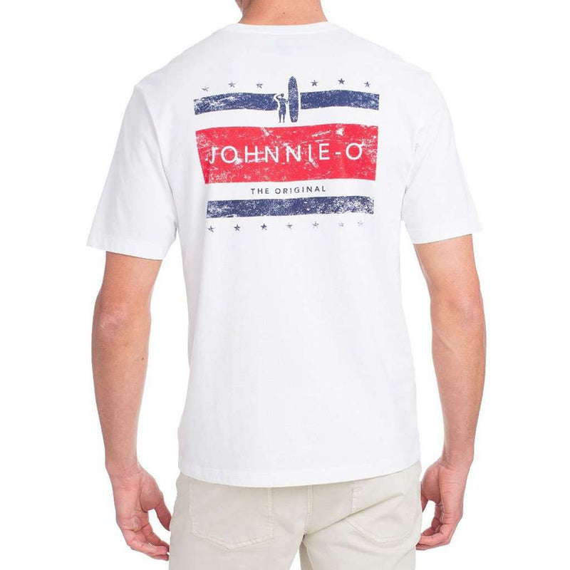 Union T-Shirt in White by Johnnie-O - FINAL SALE