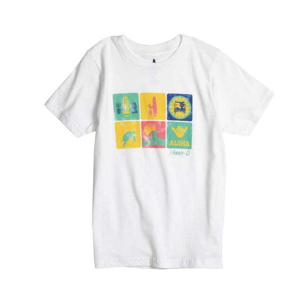 Johnnie-O Youth Aloha T-Shirt in White