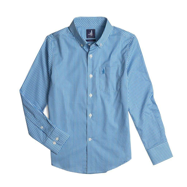 Johnnie-O Youth Augusta Prep-Formance Button Down Shirt in Oasis