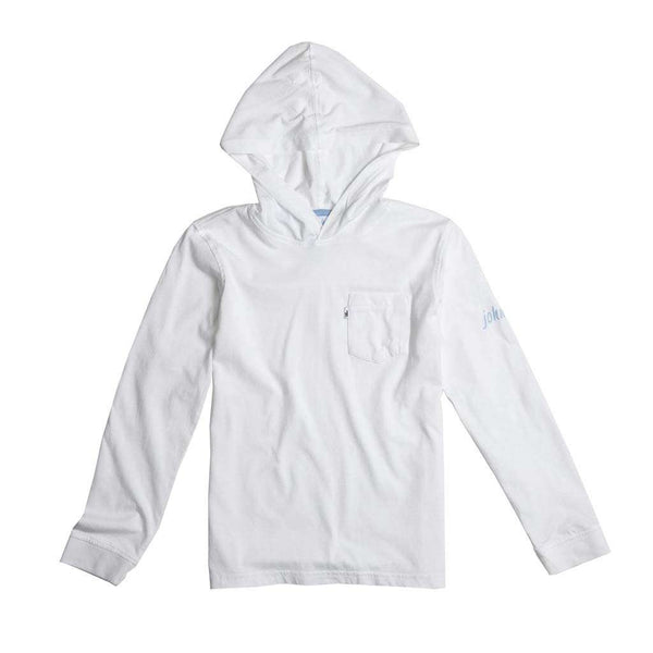 Johnnie-O Youth Eller Long Sleeve Hooded T-Shirt in White