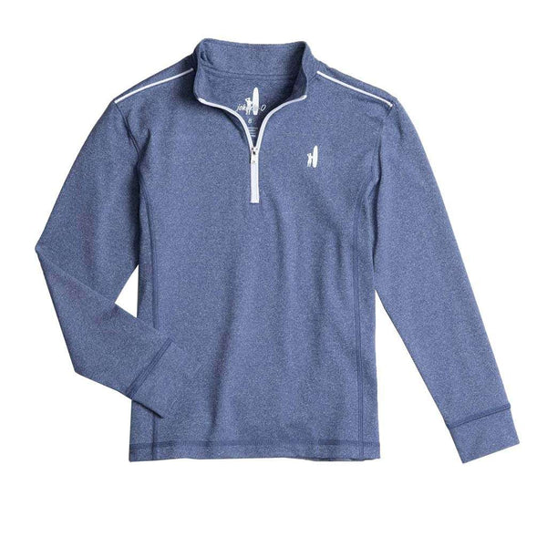 Johnnie-O Youth Lammie Prep-Formance 1/4 Zip Pullover in Lake