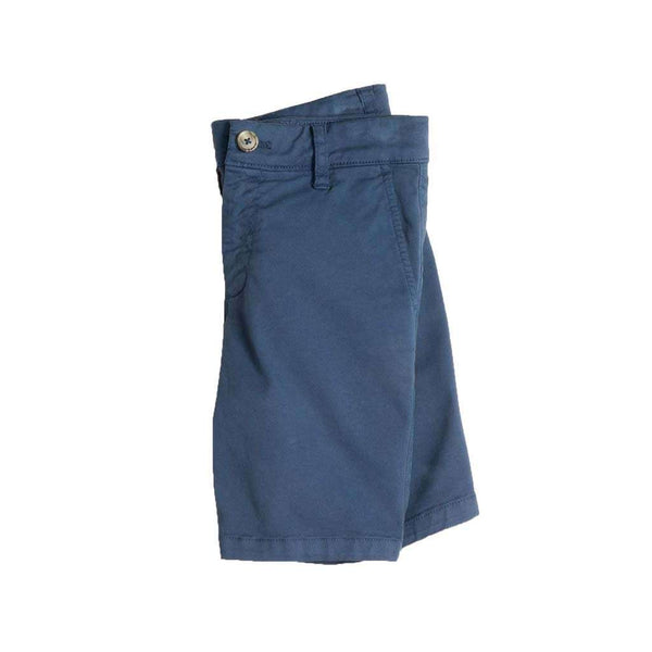 Johnnie-O Youth Neal Stretch Twill Shorts in High Tide