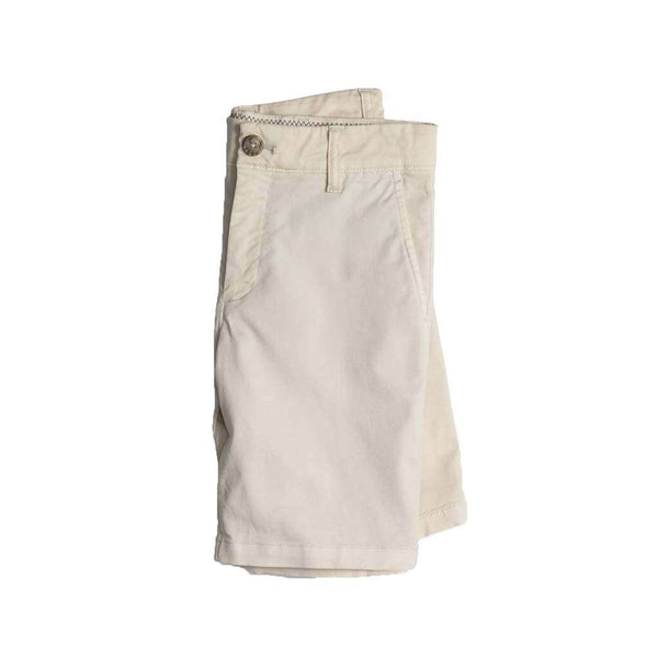 Johnnie-O Youth Neal Stretch Twill Shorts in Stone