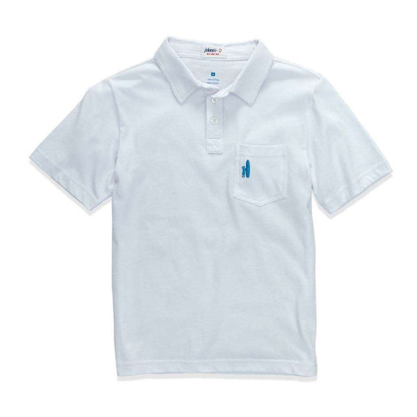 Johnnie-O Youth Original Polo in White