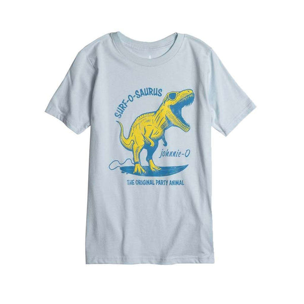 Johnnie-O Youth Surf-o-Saurus T-Shirt in Gulf Blue
