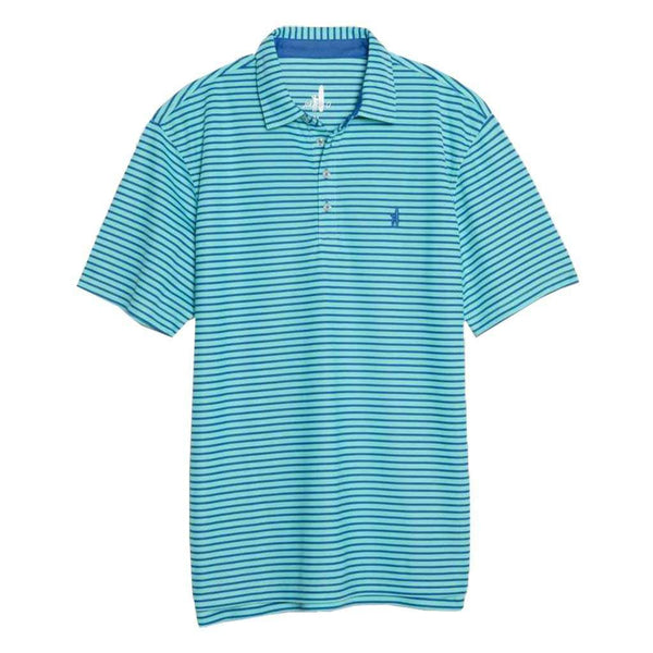 Johnnie- O Linus Dual Striped Prep-Formance Pique Polo in Palm