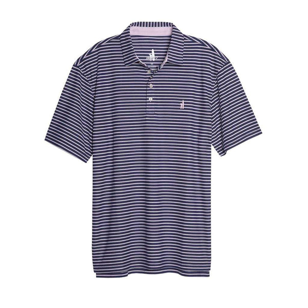 Johnnie- O Linus Dual Striped Prep-Formance Pique Polo in Twilight