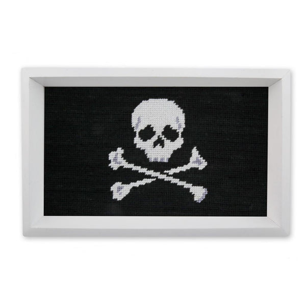 Jolly Roger Needlepoint Valet Tray by Smathers & Branson