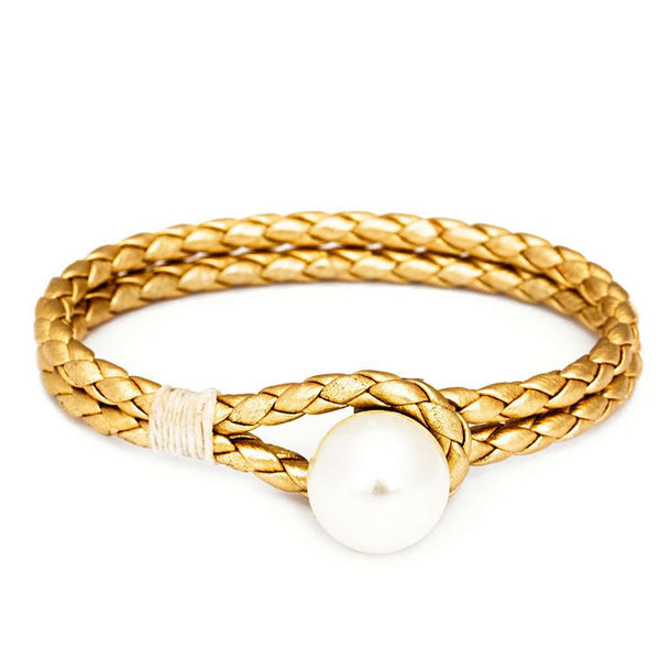 Kiel James Patrick Pearl Knot Bracelet in Gold
