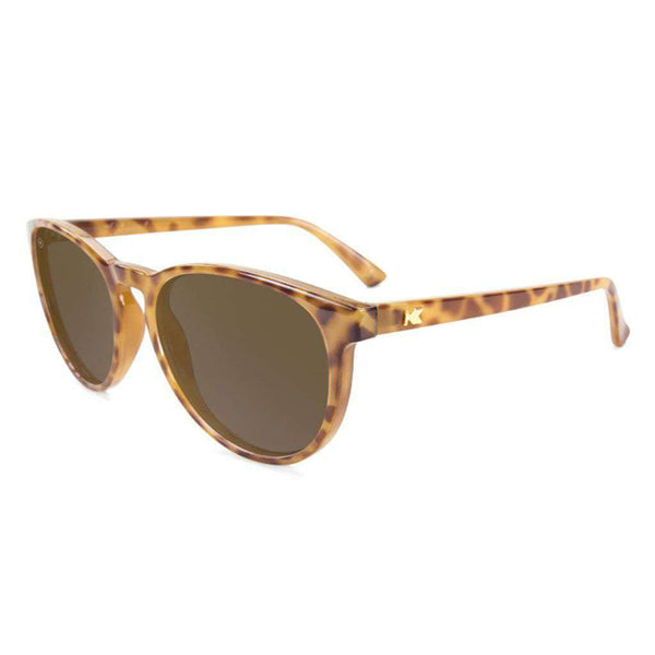 Blonde Tortoise Shell Mai Tais with Amber Polarized Lenses by Knockaround