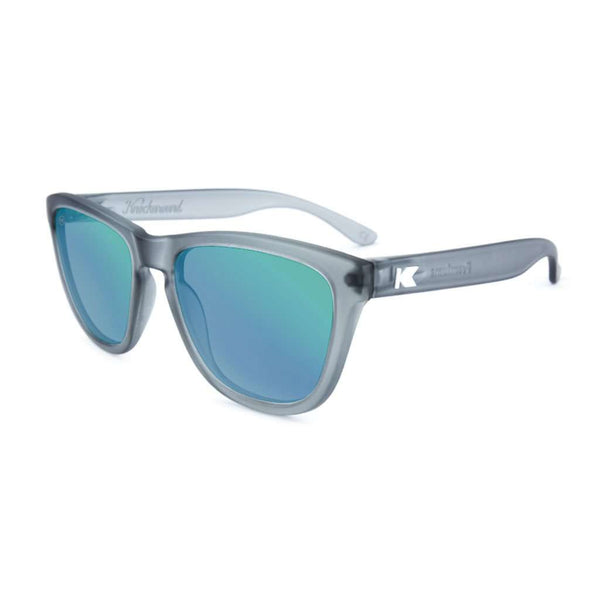 Knockaround Frosted Grey Premium Sunglasses with Polarized Moonshine Lenses