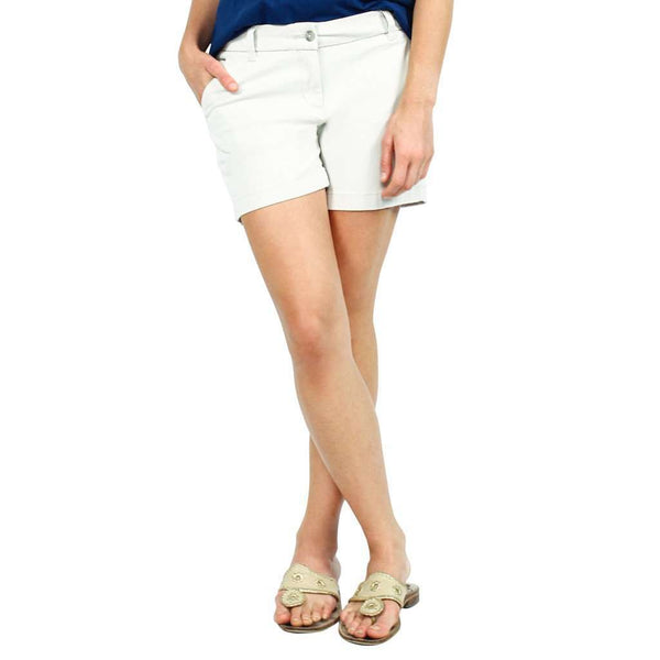 "Ladies Chino 5"" Shorts in Stone by Southern Tide  - 1"