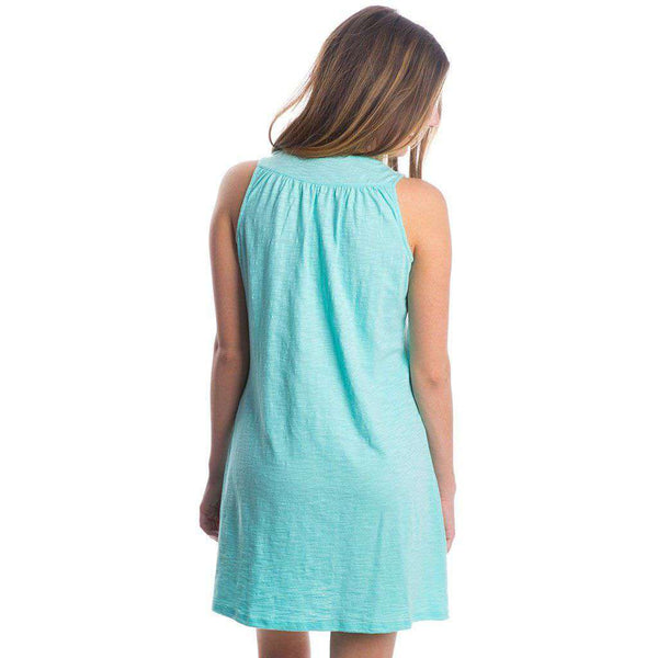 Ali Slub Dress in Ocean Palm by Lauren James