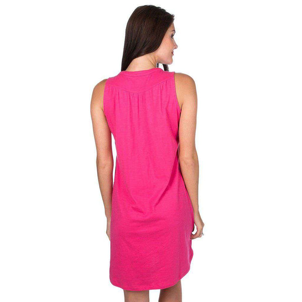 Lauren James Ali Slub Dress in Raspberry by Lauren James