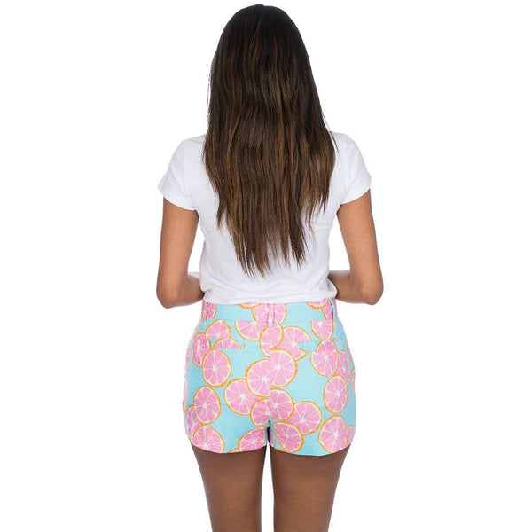 Printed Poplin Shorts in Main Squeeze by Lauren James - FINAL SALE