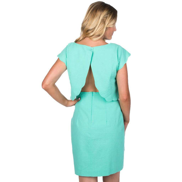 Sullivan Solid Seersucker Dress in Seafoam by Lauren James
