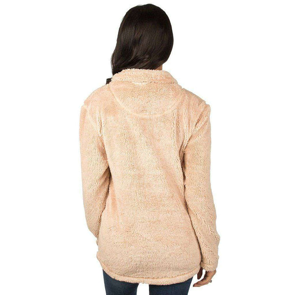 Lauren James Arkansas Linden Sherpa Pullover in Sand