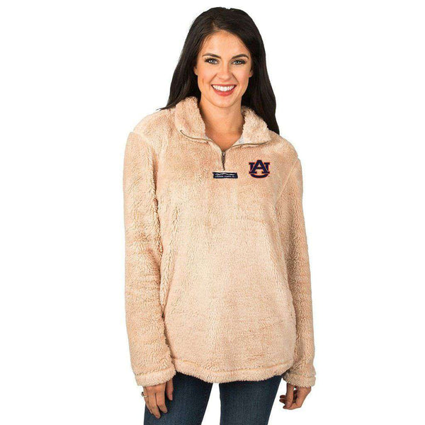 Lauren James Auburn Linden Sherpa Pullover in Sand