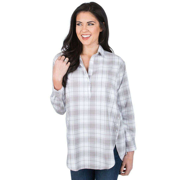 Lauren James Carter Boyfriend Tunic in Shadow