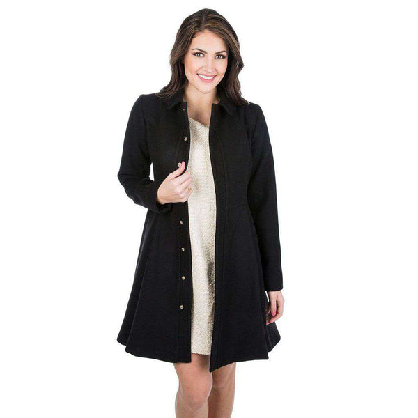 Lauren James Chloe Coat in Black