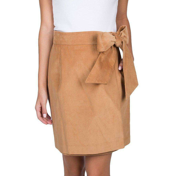 Lauren James Corduroy Wrap Skirt in Camel