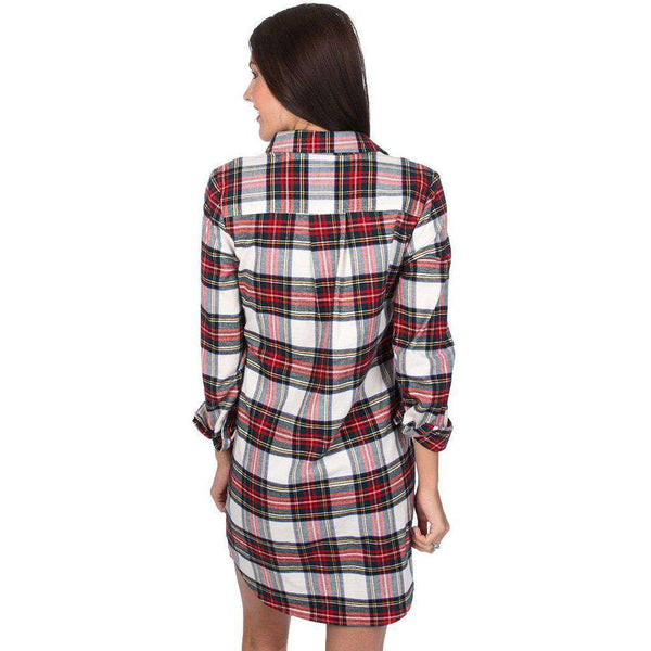 Lauren James Dakota Plaid Dress in Ivory