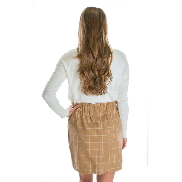 Lauren James Flannel Scallop Skirt in Camel