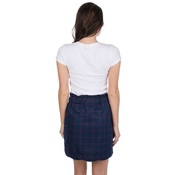 Lauren James Flannel Scallop Skirt in Navy