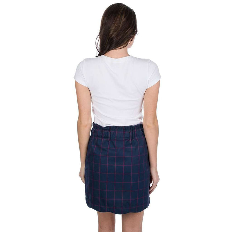 Flannel Scallop Skirt in Navy by Lauren James - FINAL SALE