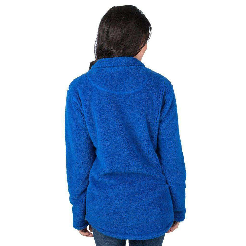 Florida Linden Sherpa Pulover in Royal by Lauren James - FINAL SALE