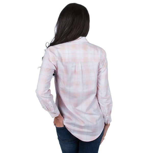 Hayden Boyfriend Flannel in Blush by Lauren James - FINAL SALE