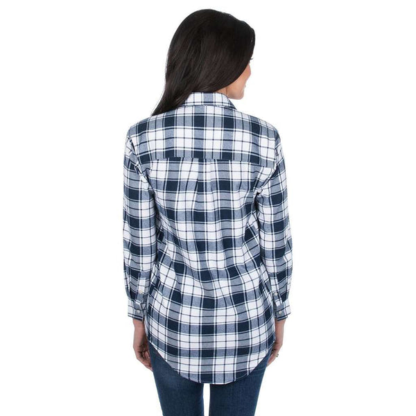 Hayden Boyfriend Flannel in Navy by Lauren James - FINAL SALE