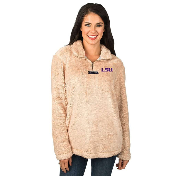 Lauren James LSU Linden Sherpa Pullover in Sand