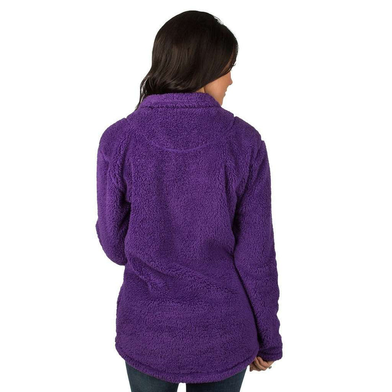 Linden Sherpa Pullover in Purple by Lauren James - FINAL SALE
