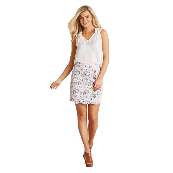 Natalie Side Button Skirt by Lauren James