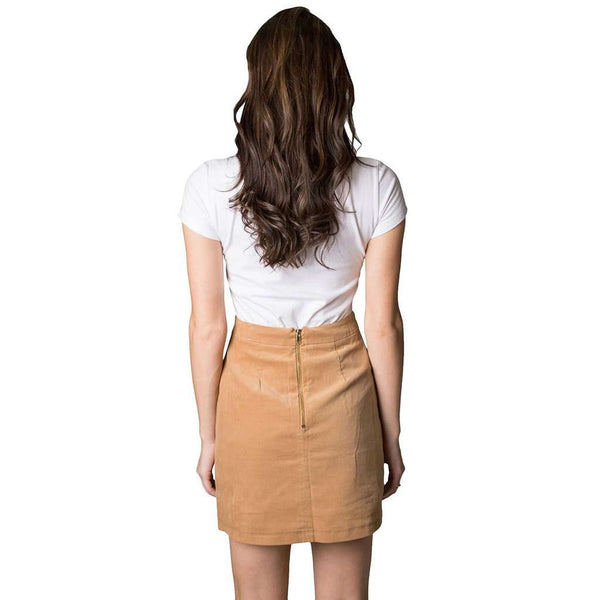Lauren James Patch Pocket Skirt in Camel