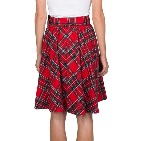 Plaid Circle Skirt in Red by Lauren James