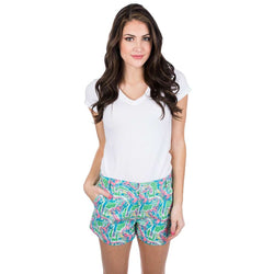 Lauren James Printed Poplin Shorts in Macawl Me